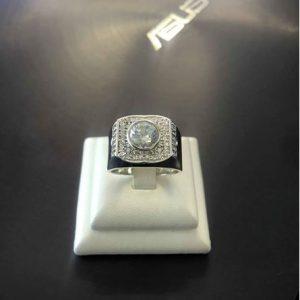 Nhẫn bạc cao cấp đính đá CZ Swarovski LJSS41