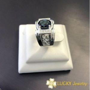 Nhẫn Rồng bạc cao cấp đính đá CZ Swarovski