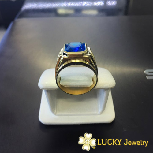 Nhẫn vàng 14K đính đá CZ Swarovski LJGC14