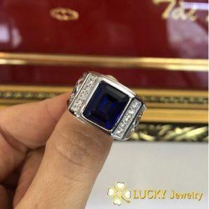 Nhẫn Bạc cao cấp đính đá Sapphire
