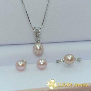 Bộ trang sức Ngọc Trai vàng 10K LJ521