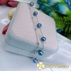 Lắc tay Ngọc trai bạc cao cấp