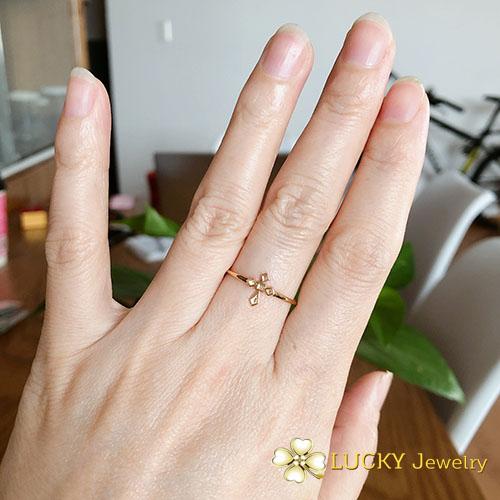 Nhẫn Thánh Giá Vàng 18K LJ546