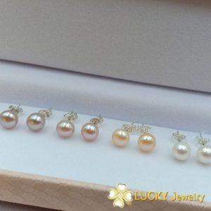 Bông tai Ngọc Trai vàng 10K LJ557
