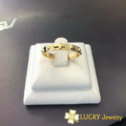 Nhẫn Thánh Giá Mân Côi Vàng 18K LJ569