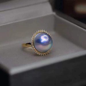 Nhẫn Ngọc Trai vàng 18K