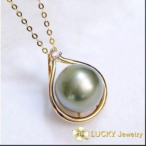 Mặt dây chuyền Ngọc trai vàng 14K LJ543
