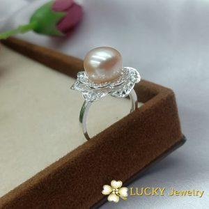 Nhẫn Ngọc Trai Bạc cao cấp LJ544