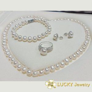 Bộ trang sức Ngọc Trai vàng 10K LJ644