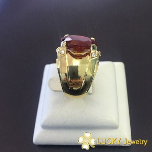 Nhẫn vàng 18K đính đá Ruby LJGR54