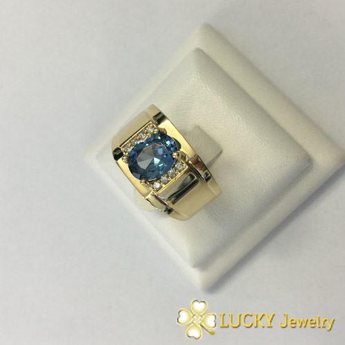 Nhẫn vàng 14K đính đá Thạch Anh LJGQ52