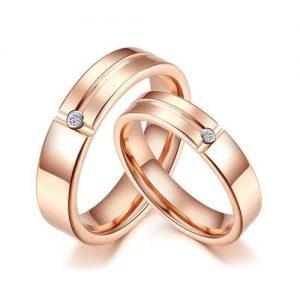 Nhẫn cưới vàng 14K đính Kim cương Moissanite LJGM85