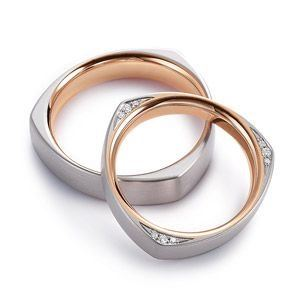 Nhẫn cưới vàng 14K đính Kim cương Moissanite LJGM76