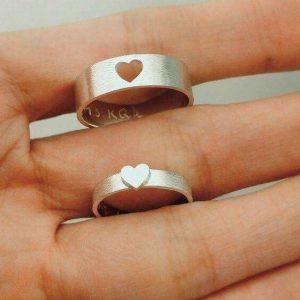 Nhẫn cưới vàng 14K LJGU75