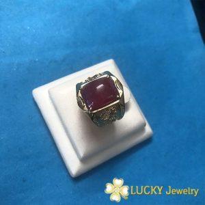 Nhẫn bạc cao cấp đính đá Ruby LJSR42