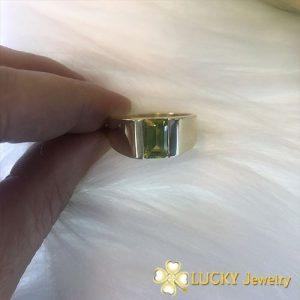 Nhẫn vàng 18K đính đá Peridot LJGP23