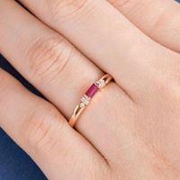 Nhẫn vàng 18K đính đá Ruby LJGR20