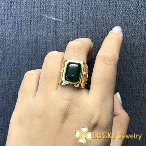 Nhẫn vàng 18K đính đá quý LJGU18