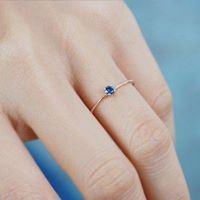Nhẫn bạc cao cấp đính đá Sapphire LJSS10