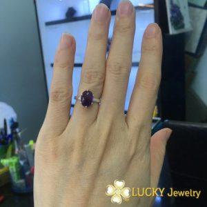 Nhẫn bạc cao cấp đính đá quý LJSG