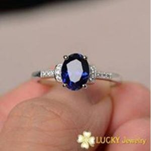 Nhẫn bạc cao cấp đính đá CZ Swarovski LJSCZ08