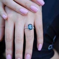 Nhẫn bạc cao cấp đính đá quý LJSU33