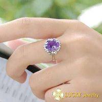 Nhẫn bạc cao cấp đính đá quý LJSU36