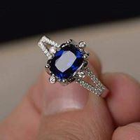 Nhẫn bạc cao cấp đính đá quý LJSU38
