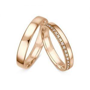 Nhẫn cưới vàng 14K đính Kim cương Moissanite LJGM82