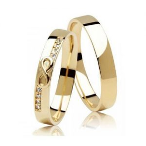 Nhẫn cưới vàng 14K đính Kim cương Moissanite LJGM84