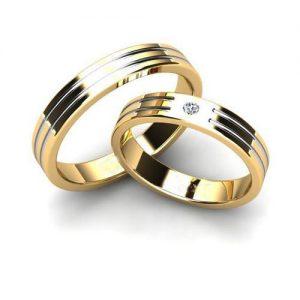 Nhẫn cưới vàng 14K đính Kim cương Moissanite LJGM87