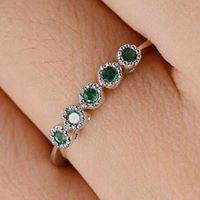 Nhẫn nữ vàng 18K đính đá Sapphire LJGS58