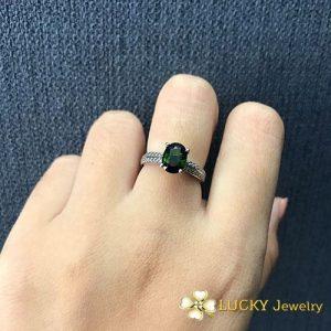 Nhẫn vàng 14K đính Đá Sapphire LJGS51
