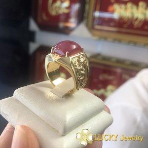 Nhẫn vàng 14K đính đá Ruby LJGR15