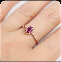 Nhẫn vàng 18K đính đá Ruby LJGR57