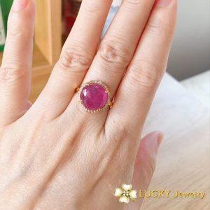 Nhẫn vàng 18K đính đá Ruby LJGR05