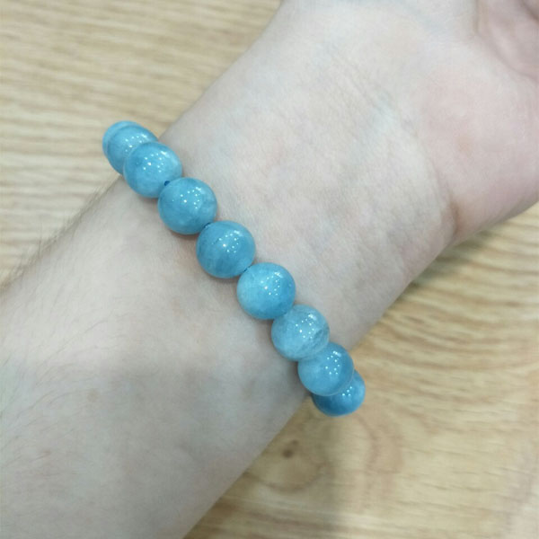 Vòng tay Phong thủy đá Thạch Anh Xanh