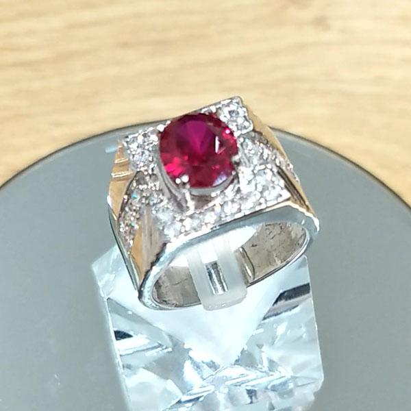 Nhẫn Nam bạc cao cấp đính đá nhân tạo LJGC54