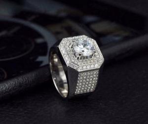 nhẫn nam kim cương moissanite